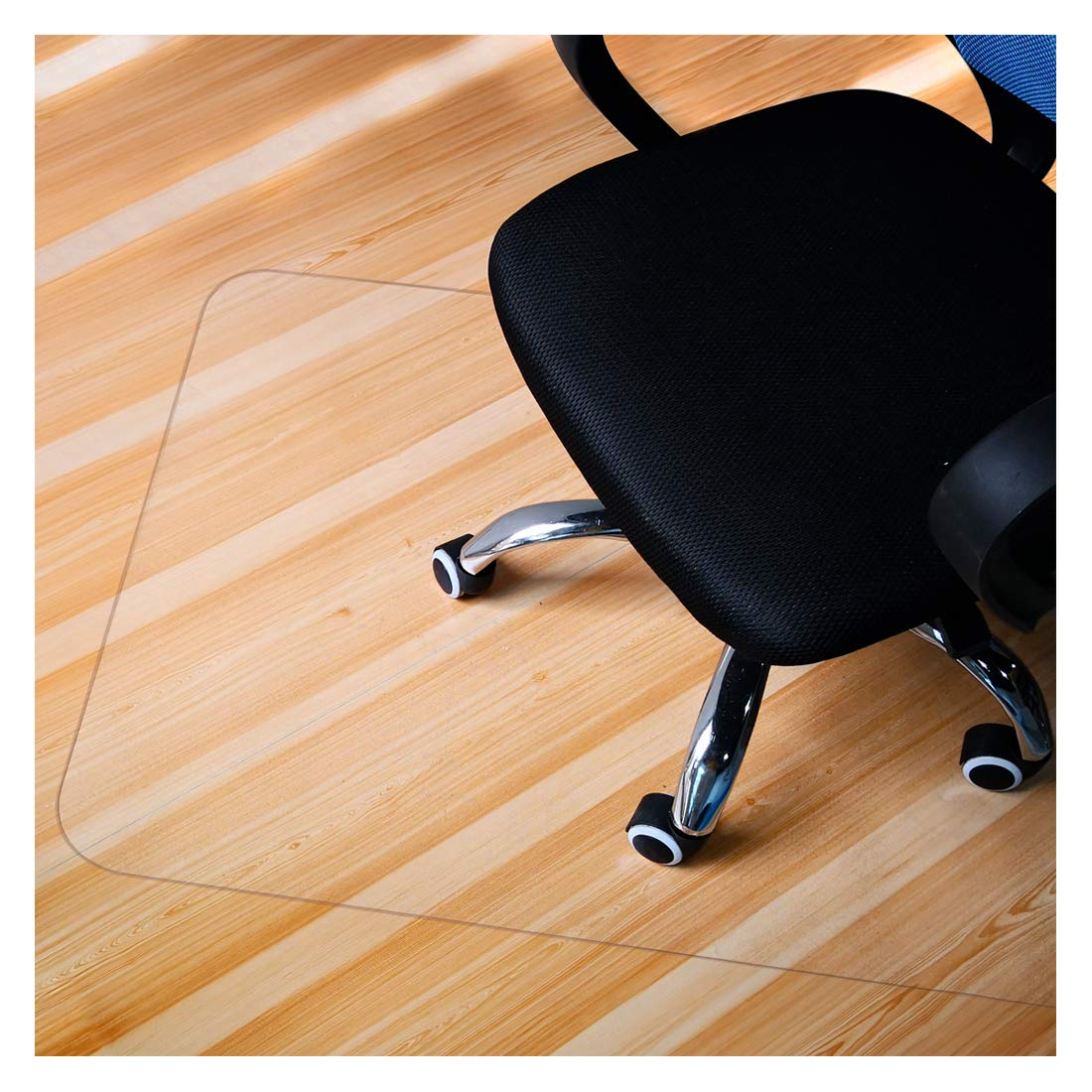 GIOVARA Clear Chair Mat for Hard Floors, 90x120cm (3'x4'), Rectangular, High Impact Strength, Non-Slip, Non-Recycling Material