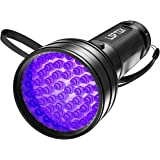 LOFTEK UV Flashlight Black Light, 51 LED 395 nM Flashlight Perfect Detector for Pet (Dog and Cat) Urine and Dry Stains, Handheld Blacklight for Scorpion Hunting