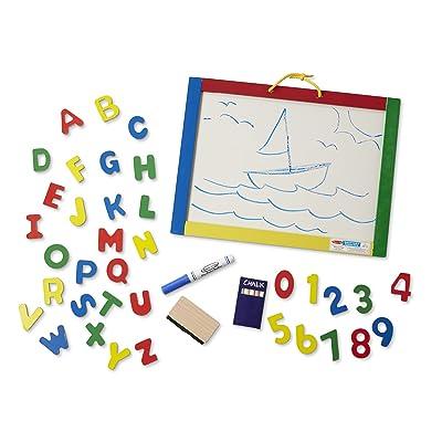 Melissa & Doug Magnetic Chalk/Dry Erase Board: Melissa & Doug: Toys & Games