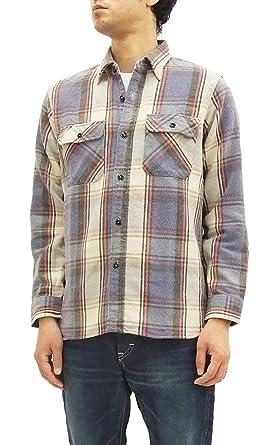 0527d49bf02 Sugar Cane Flannel Plaid work shirt SC27118H Men s Long Sleeve Shirts  (Medium) Navy
