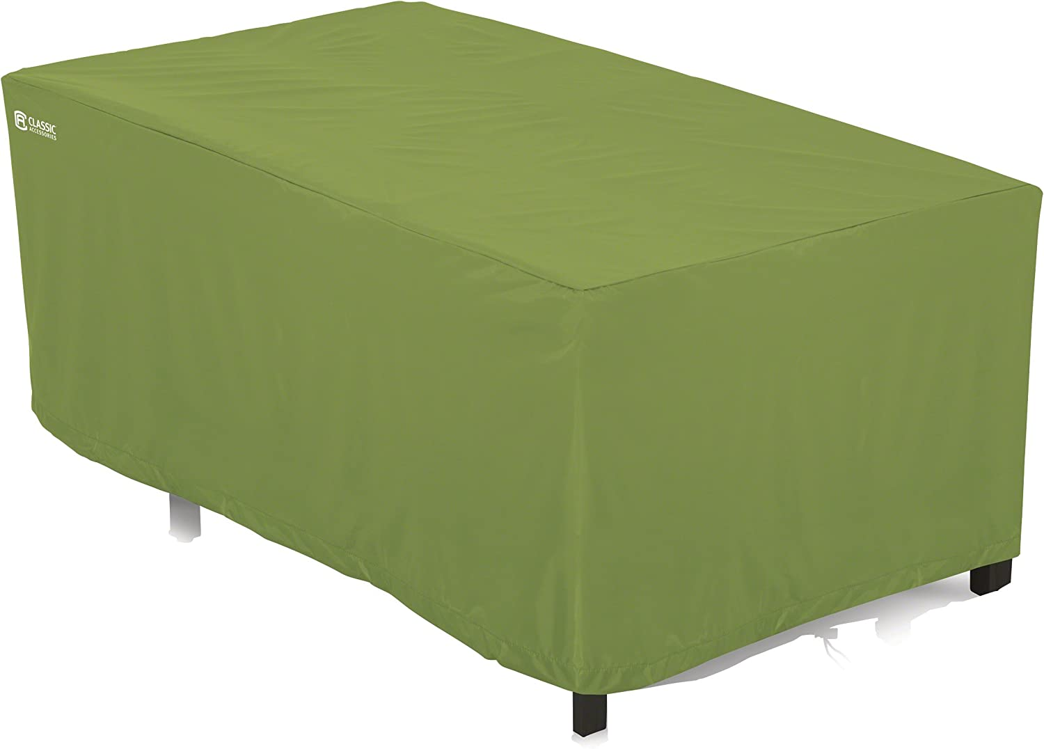 Classic Accessories Sodo Patio/Outdoor Coffee Table Cover - Tough and Weather Resistant Patio Set Cover, Rectangular, Herb (55-362-011901-EC)