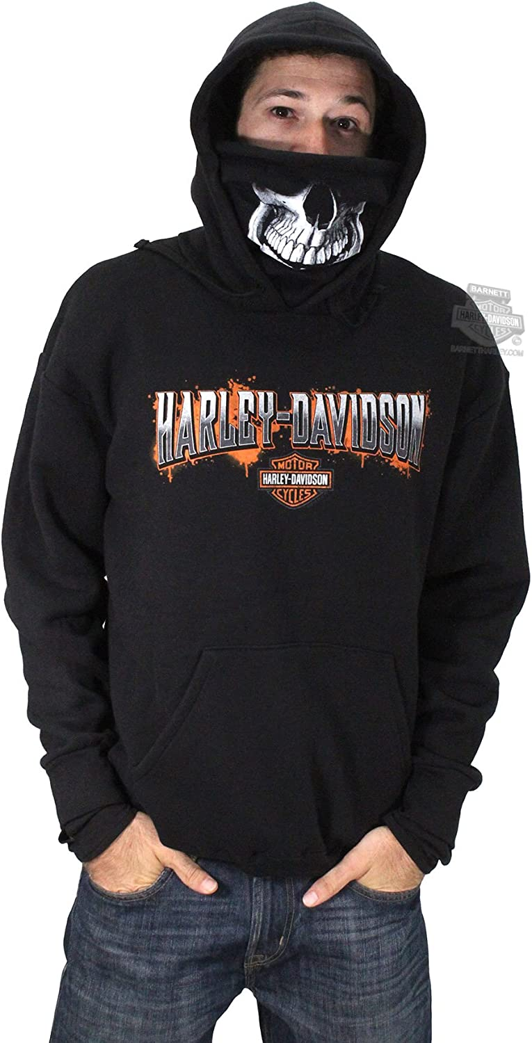 Harley Davidson Mens Skull Mask Bandana Scarf Pullover Black Long Sleeve Hoodie 4x Amazon Ca Clothing Accessories