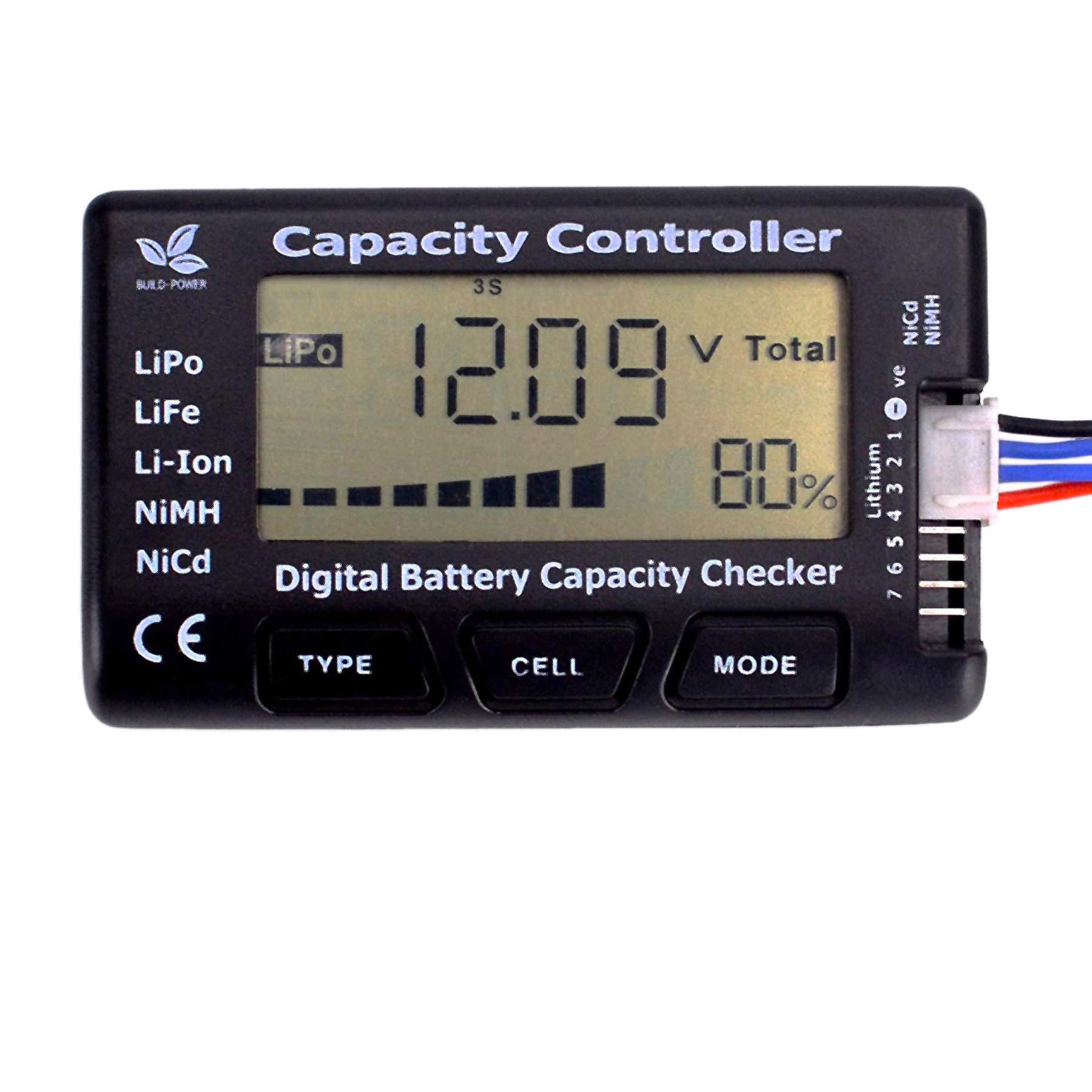 FPVKing RC CellMeter-7 Digital Battery Capacity Checker Controller Tester for LiPo LiFe Li-ion NiMH Nicd