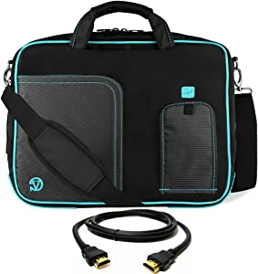 "Blue Laptop Bag, HDMI Cable for Dell Latitude, Inspiron, Precision, XPS, Alienware, Vostro, G3 G5 G7 14"" to 15.6 inch"