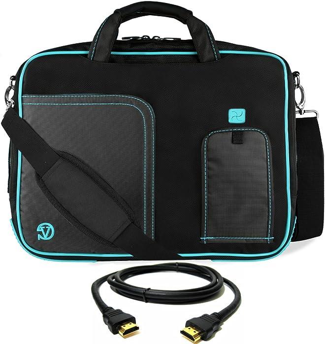 "Blue Laptop Bag, HDMI Cable for Dell Latitude, Inspiron, Precision, XPS, Alienware, Vostro, G3 G5 G7 14"" to 15.6 inch"