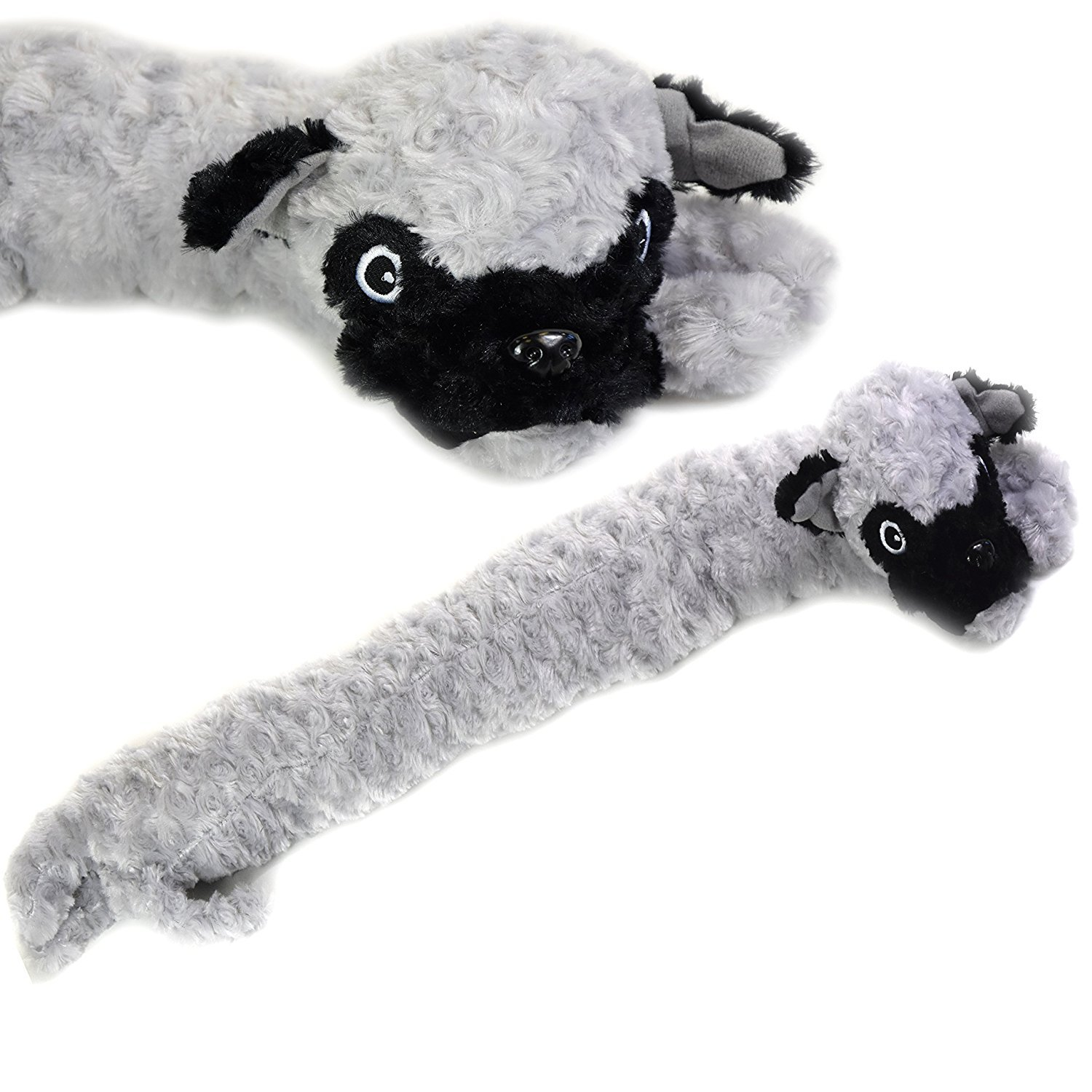 AQS Cat & Dog Draught Excluder Soft Plush Microfleece Draught Excluders 85cm Long (Grey Dog) Country Club