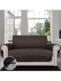Sofa Covers, Slipcovers, Reversible Quilted Furniture Protector, Improved  Cover With Elastic Strap,