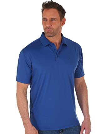 cdb50e2a Wrangler Men's George Strait by Navy Performance Polo at Amazon ...