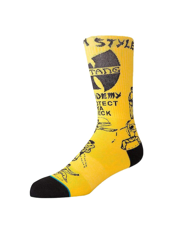 e99c1fad03532 Amazon.com: Stance x Wu-Tang Men's Protect Ya Neck Socks Yellow: Clothing