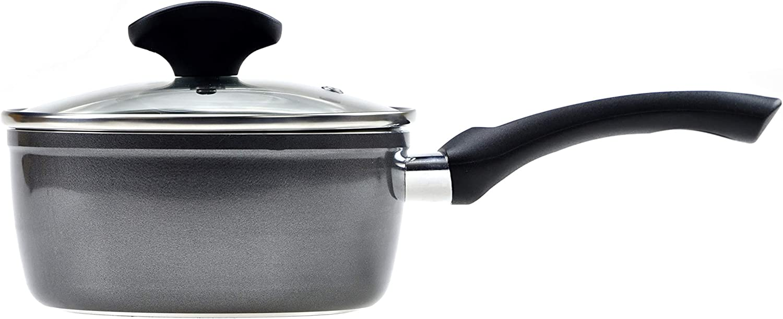RAVELLI Italia Linea 85 Non Stick Induction Suace Pan With Lid, 1 Quart