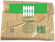 Perfect Stix Green Spoon 158-250 Wooden Disposable Spoons, 6