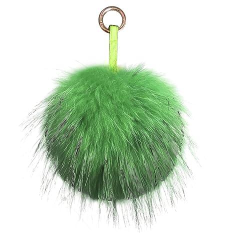 Gosear llaveros de Bola Pompón Bolso Colgante Lindo Verde