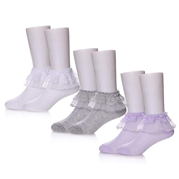 Amazon.com: TRUEHAN - Paquete de 3/6 calcetines de algodón ...