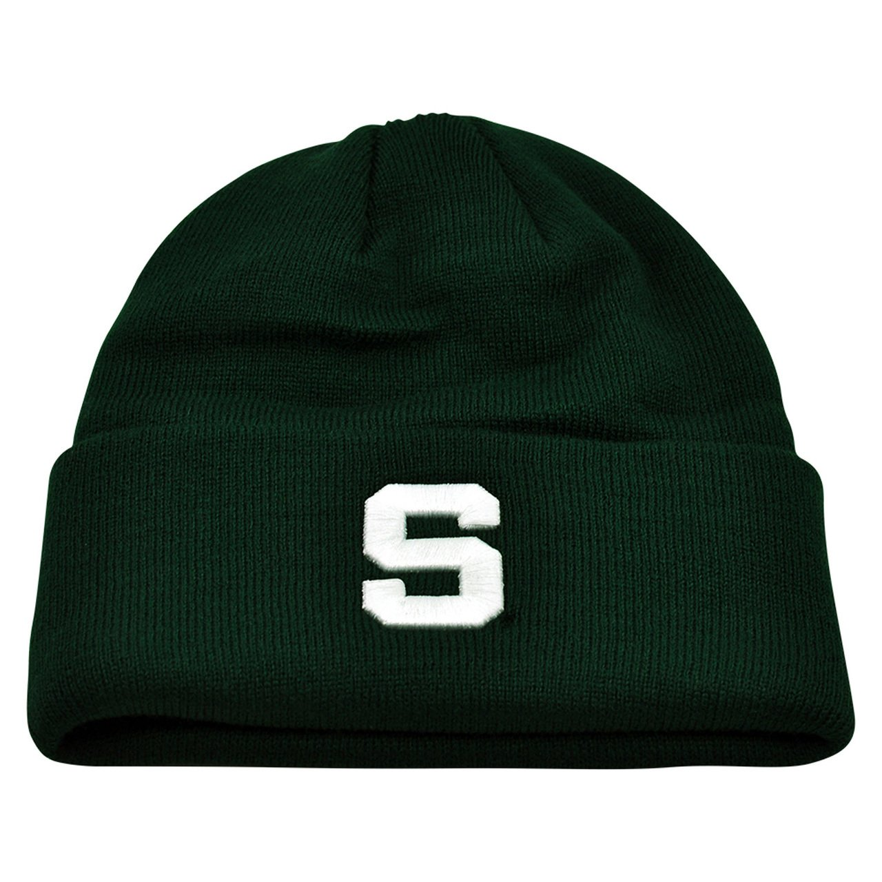 Michigan State Spartans Team Color Simple Cuffed Knit Hat