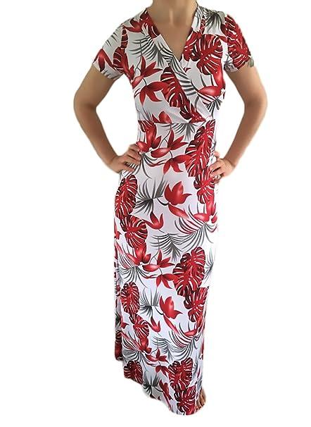 Mujer Vestido De Fiesta Largo Elegantes Manga Corta V Cuello Slim Fit Ajustado Vestidos Largos De