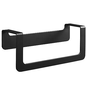 WEISSENSTEIN Toallero de baño Adhesivo | Porta Toallas de Pared de Acero Inoxidable Negro sin Taladro | Medidas: 22 x 7 x 10 cm: Amazon.es: Hogar
