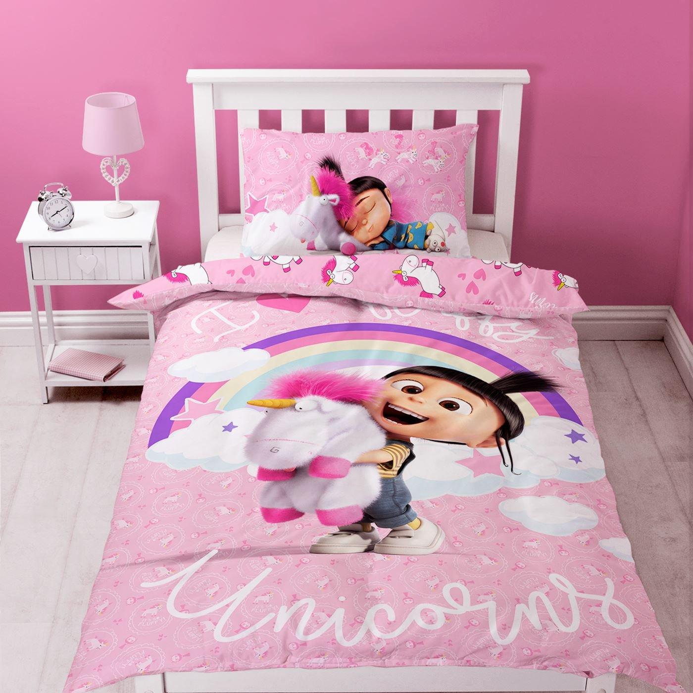 Despicable Me Duvet Set, Polyester-Cotton, Pink, Single Character World UDMDDMDS001UK1