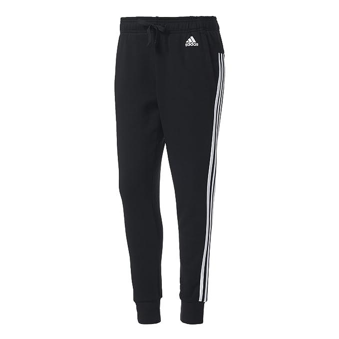 Neu Adidas Essentials 3 Stripes Trainingshose Damen grau