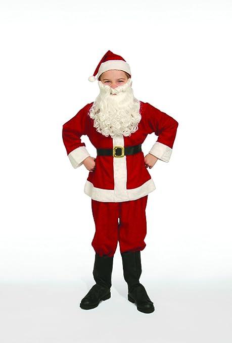 faa2b522b22 Amazon.com  Complete Santa Claus Suit Set Child Costume Size 4-6 Small   Toys   Games