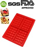 1 X Safety 4-Cavity Waffles Cake Chocolate Pan Silicone Mold Baking Mould Cooking Tools Kitchen Accessories Supplies (1 X Safety 4 Cavity Waffle mold)