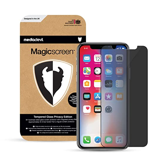 official photos 48ed3 df30c Amazon.com: iPhone X (iPhone 10) Privacy Tempered Glass Screen ...