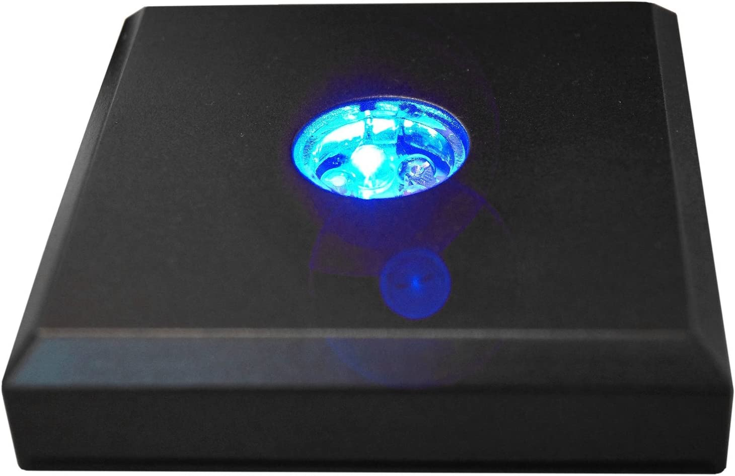 Kaltner Präsente Base LED Negro con 3 LED - Un gran regalo para adaptarse a nuestra vela LED/bloque de cristal/luces de ambiente