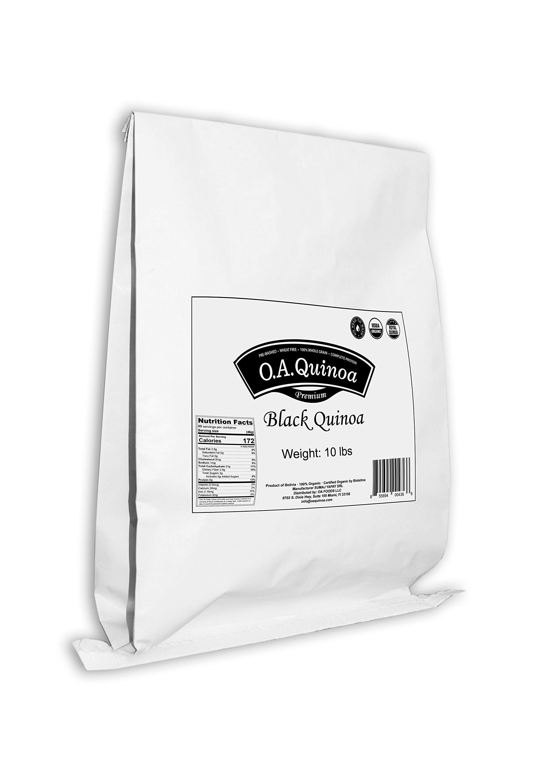 OA QUINOA | ORGANIC ROYAL QUINOA (Black, 10 Lb) by OA QUINOA (Image #2)