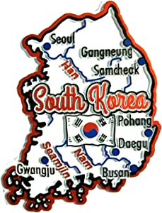South Korea Map Fridge Magnet
