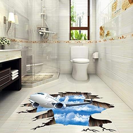 LtrottedJ.3D Stream Pegatina de pared extraíble mural adhesivos de ...