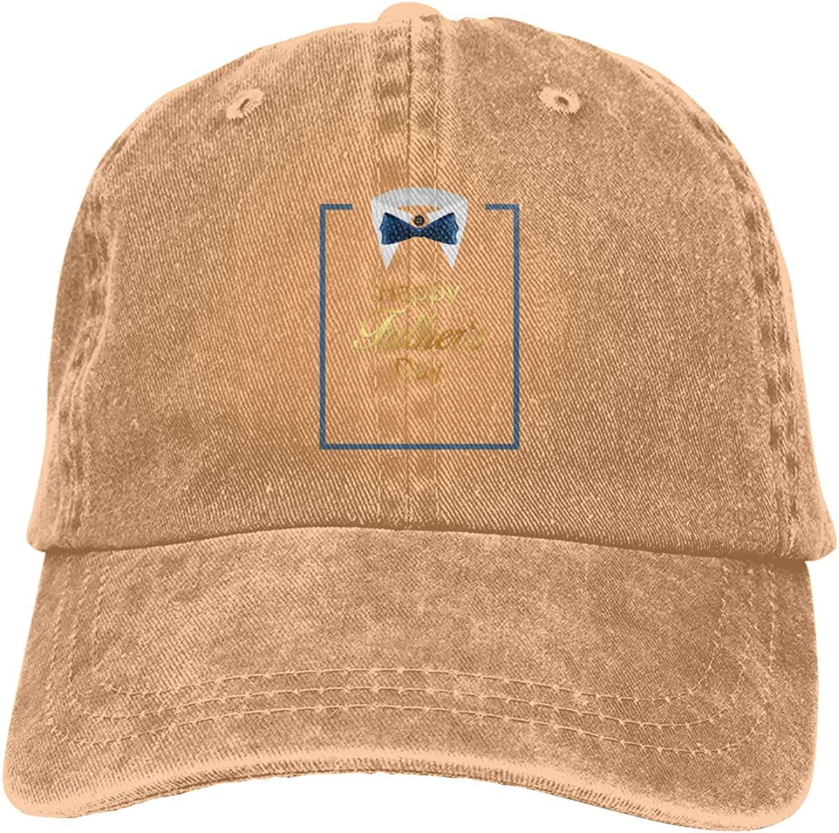 XZFQW Fathers Day Father Shirt Blue Square Trend Printing Cowboy Hat Fashion Baseball Cap for Men and Women Black