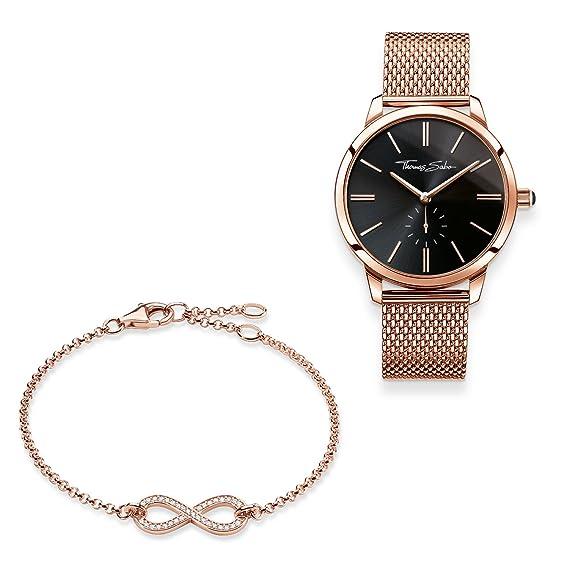 THOMAS SABO - Reloj de pulsera para mujer con pulsera de plata de ley 925,