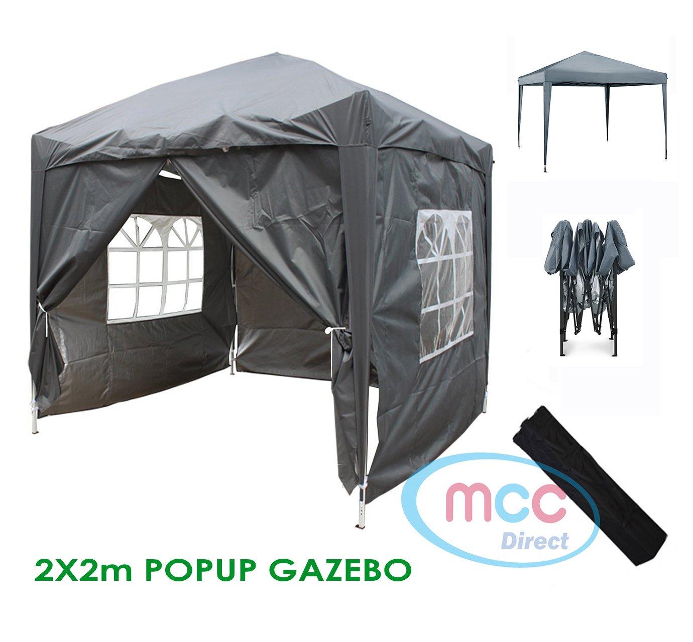 colore: Grigio Gazebo Pop-Up da giardino AirWave incl impermeabile 2 barre anti-vento e 4 zavorre 2,5 x 2,5 m