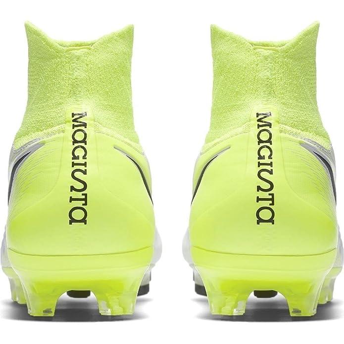 new styles b58ef ad1a9 Nike 843812 109 - Botas de fútbol para Hombre Blanco WhiteBlack-Volt-Pur  Amazon.es Zapatos y complementos
