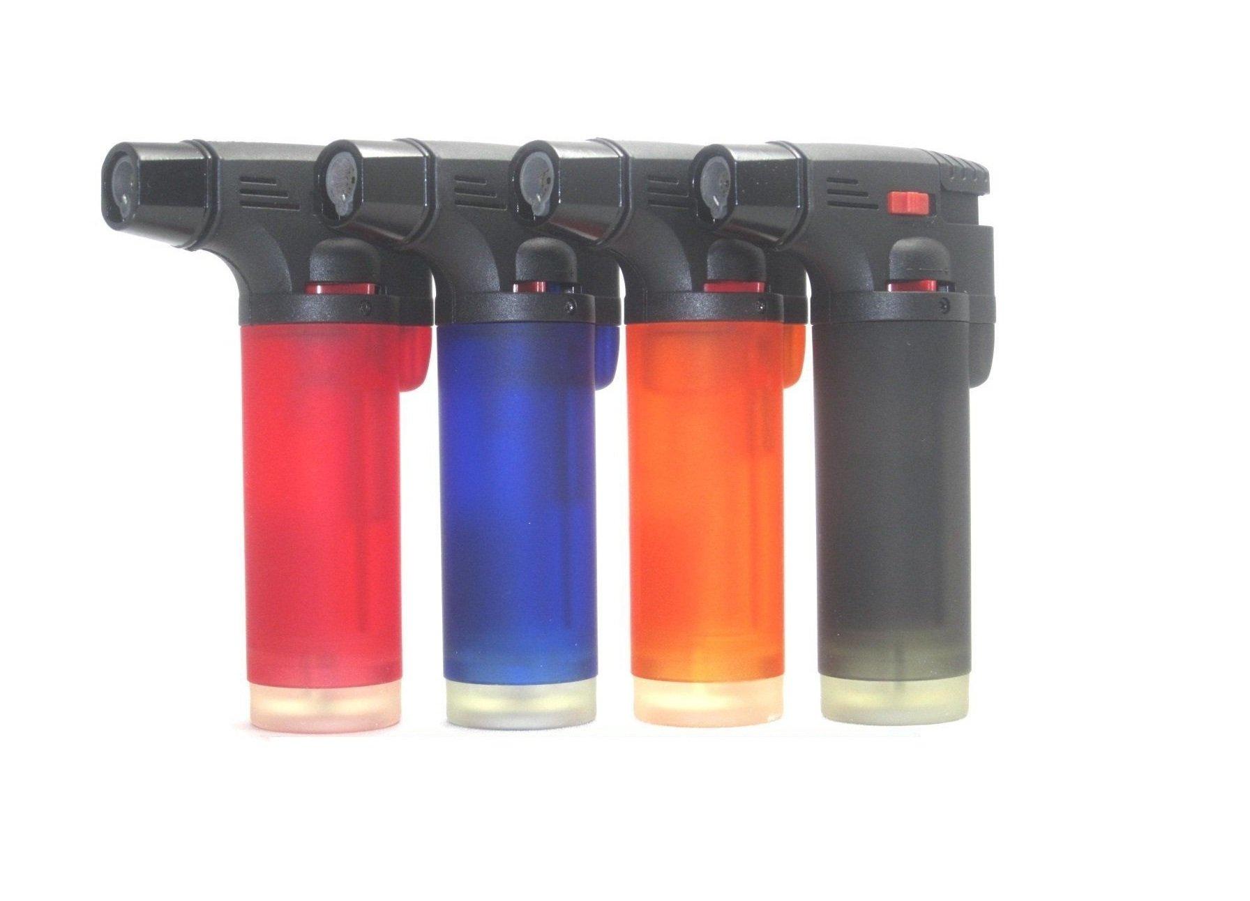 Eagle Jet Torch Gun Lighter Adjustable Flame Windproof Butane Refillable Pack of 4