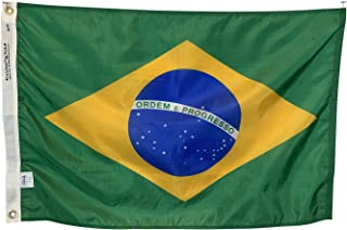 product image for 5x8' Brazil Flag - Durable All Weather Nylon & Reinforced Stitching - Made in The USA