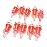 Pawfly 10 PCS Aquarium Air Pump Check Valves Red