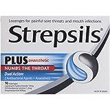 Strepsils Plus Anaesthetic Sore Throat Numbing Pain Relief Lozenges (16 Pack)