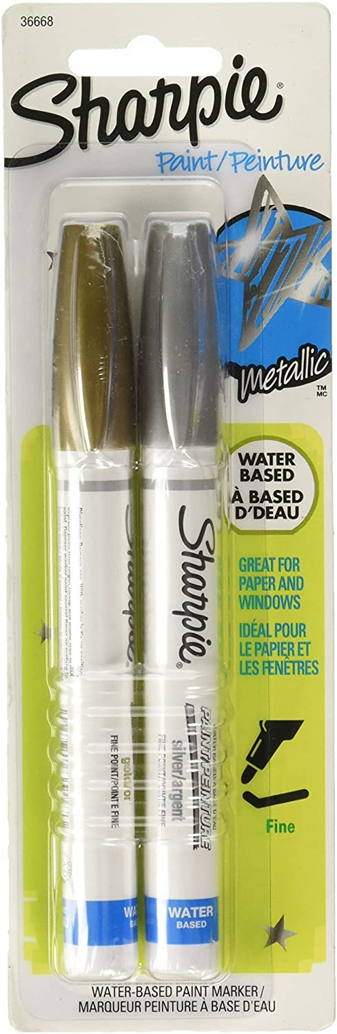 Sharpie Paint Marker Water Based Pastel Colors Extra Fine Point 4 Paper//Windows