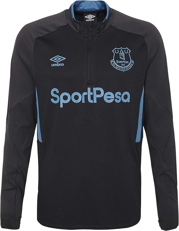 Nouveau Adulte Umbro Everton FC Training T Shirt Top Noir Rose dernière XXL 2XL