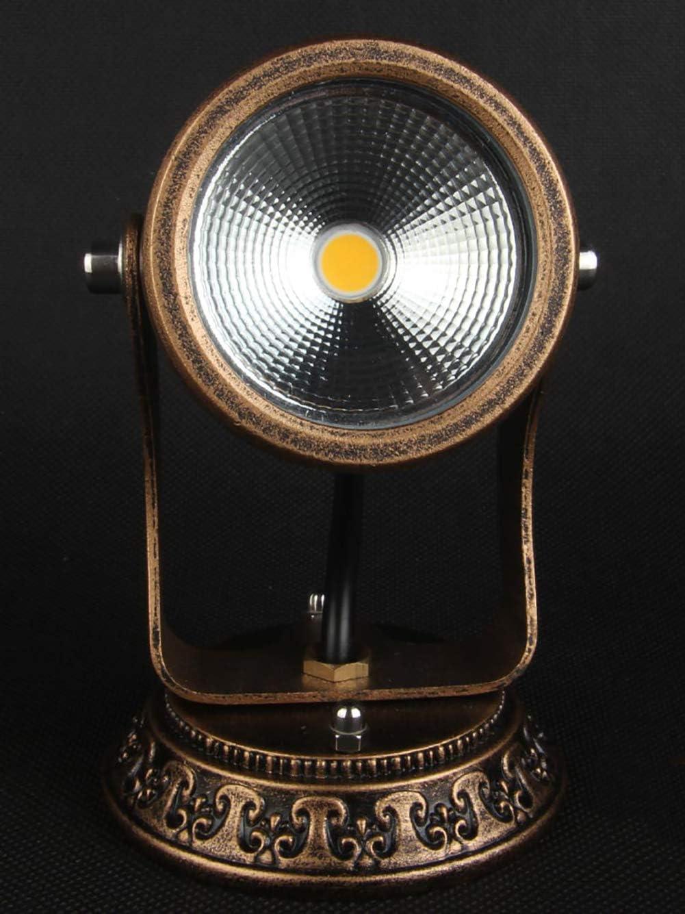 Deckenstrahler Wand-Lampe Badlampe Decken-Spot Metall Wand-Spot Deckenfluter Retro LED Wandleuchte Vintage LED-Spot Wandlampe Dreh- /& Schwenkbar IP54, 3 W Decken-Lampe
