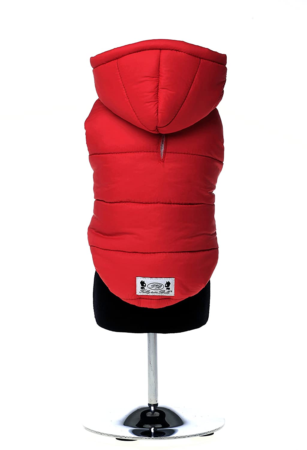 Red S M red S M Trilly tutti Brilli Claire Padded Dog's Jacket, Small Medium, Red