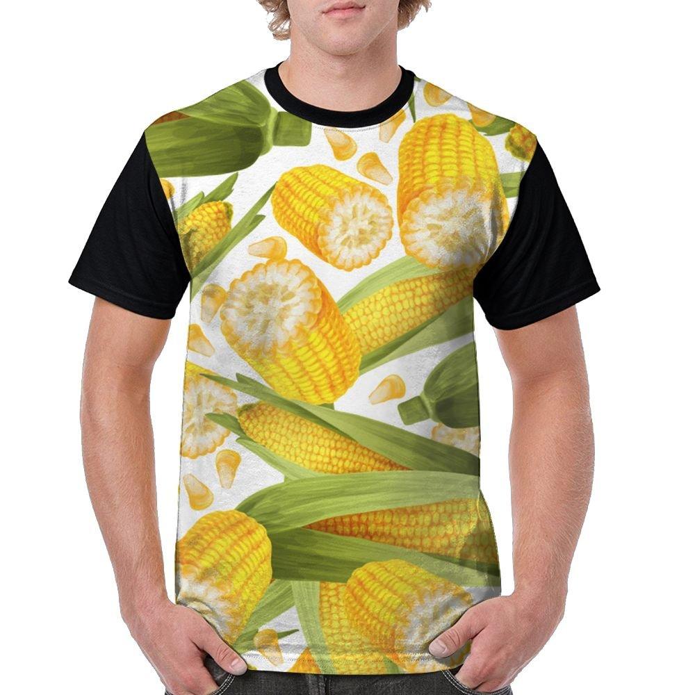 CKS DA WUQ Corn Harvest Season Men's Raglan Short Sleeve Tops T-Shirt Popular Undershirts Baseball Tees