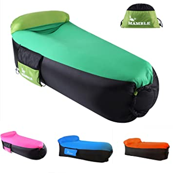 MAMBLE Inflatable Lounger Sofa Portable Sofa Bed Air Sofa For Travelling,  Camping, Beach,
