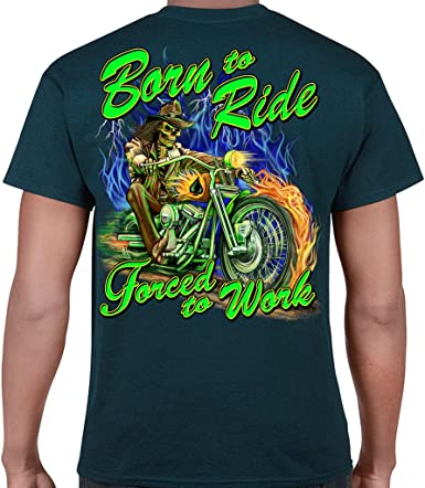 Born to Ride T-Shirt Graphic Shirts Funny Unisex Shirt