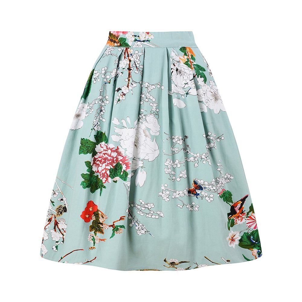 98317d080f8c Amazon.com: Taydey A-Line Pleated Vintage Skirts for Women: Clothing