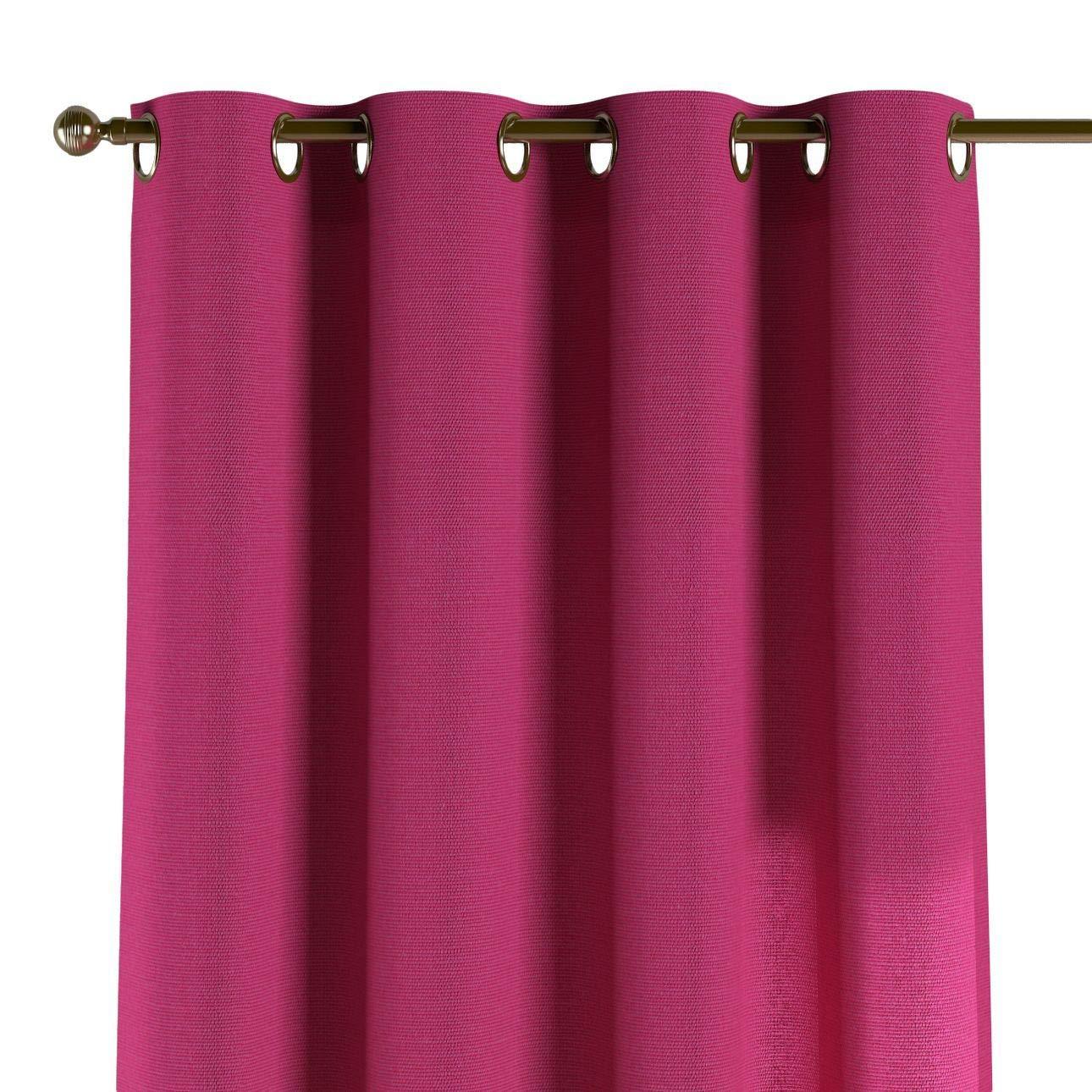 Dekoria Ösenschal Dekoschal Blickdicht 1 Stck. 130 × 260 cm rosa Maßanfertigung möglich