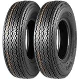 MaxAuto Set of 2 4.80-8 Highway Boat Motorcycle Trailer Tires 4.80x8 6PR Load Range C