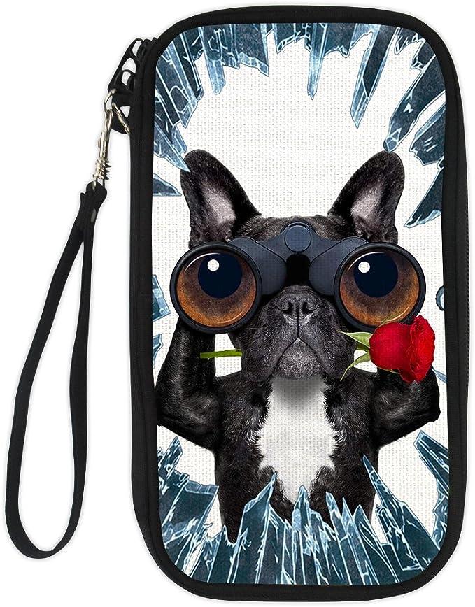 CHAQLIN Dog/&Cat Design Business Passport Holder Card Case Shoulder Bag Polyester