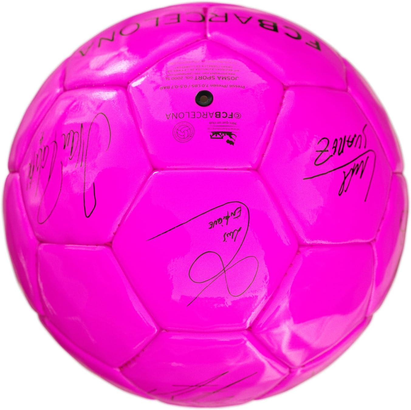 Balón Firmas Rosa Fluor FCBarcelona: Amazon.es: Deportes y aire libre
