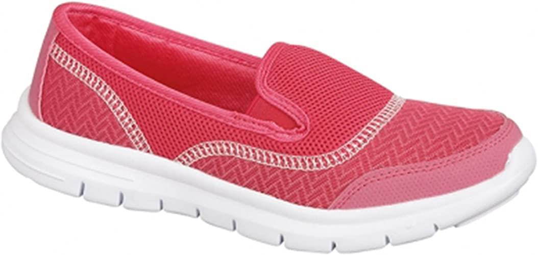 UK Womens Casual Mesh Shoes Trainers Flat Slip On Comfy Pumps Sneakers Gym Size